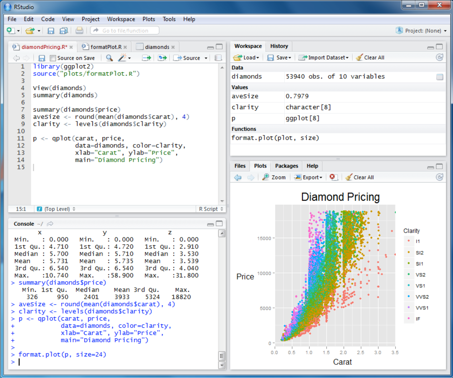 Figure 3: RStudio running on Windows.